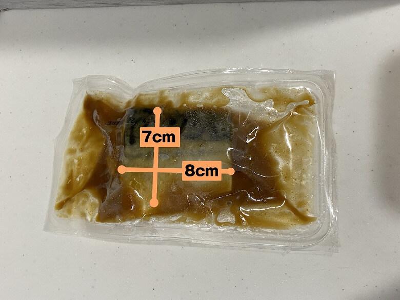 コープデリ 骨取りさばの味噌煮 切り身の大きさ