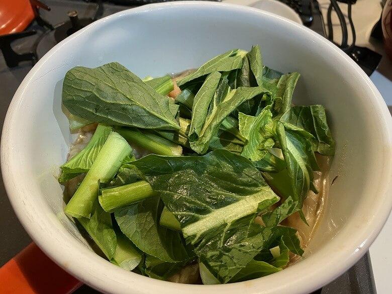 「コープデリミールキット金沢郷土料理 鶏肉とたけのこの治部煮」作り方⑦