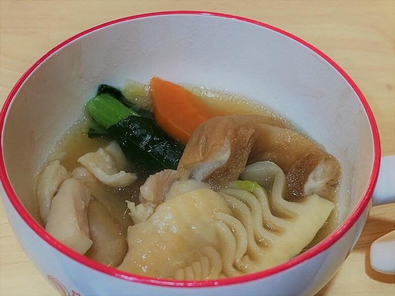 「コープデリミールキット金沢郷土料理 鶏肉とたけのこの治部煮」完成写真子ども用