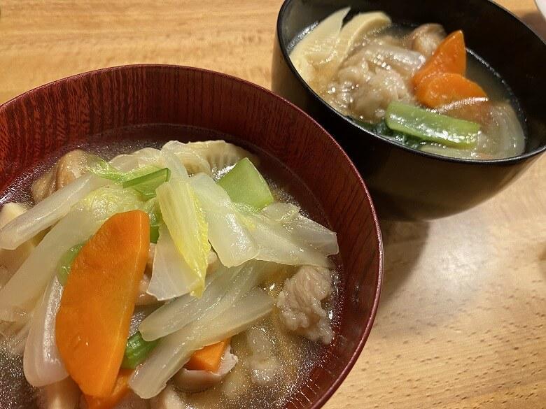 「コープデリミールキット金沢郷土料理 鶏肉とたけのこの治部煮」完成写真