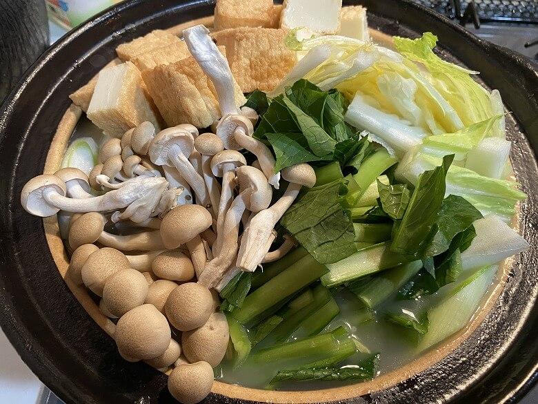 コープデリ「みつせ鶏のふわふわだんごと白湯スープ」お鍋バージョン作り方③