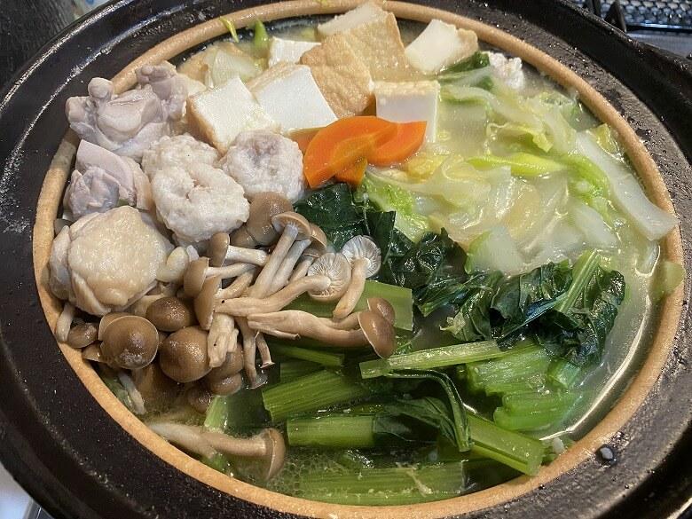 コープデリ「みつせ鶏のふわふわだんごと白湯スープ」お鍋バージョン作り方④