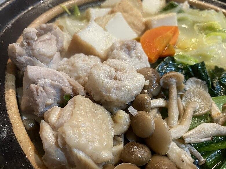 コープデリ「みつせ鶏のふわふわだんごと白湯スープ」お鍋バージョン作り方⑤