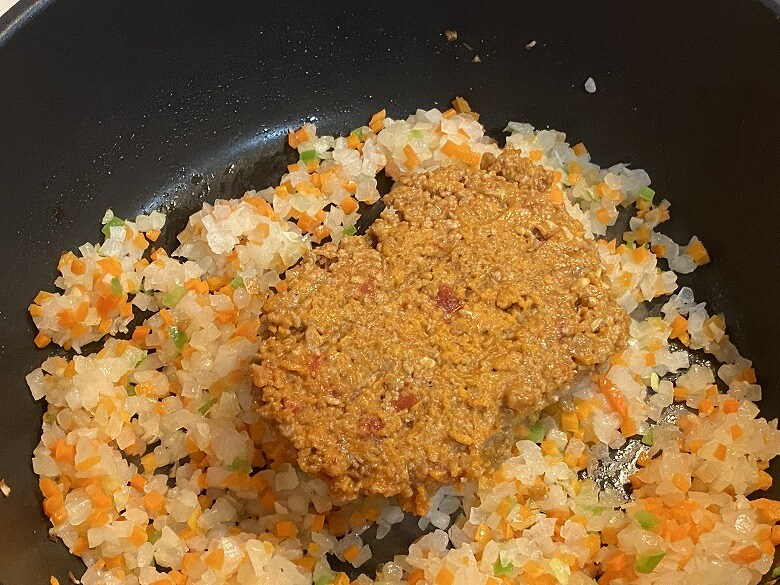 「コープデリミールキット1/3日分野菜が摂れる半熟玉子のドライカレー」作り方④