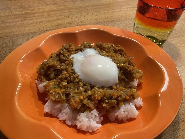 「コープデリミールキット1/3日分野菜が摂れる半熟玉子のドライカレー」作り方⑨