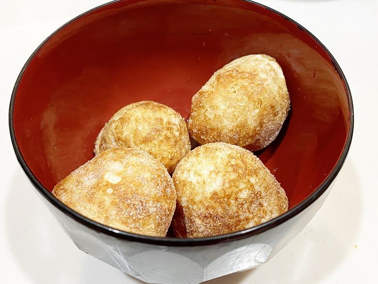コープデリ「たこ焼50個入(1kg)」レビュー アレンジ 明石焼き風たまごスープ 作り方①