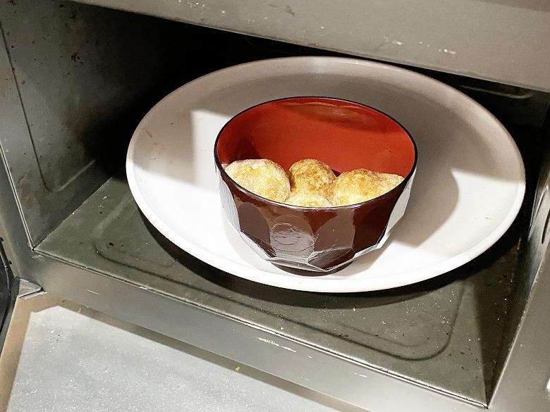 コープデリ「たこ焼50個入(1kg)」レビュー アレンジ 明石焼き風たまごスープ 作り方②