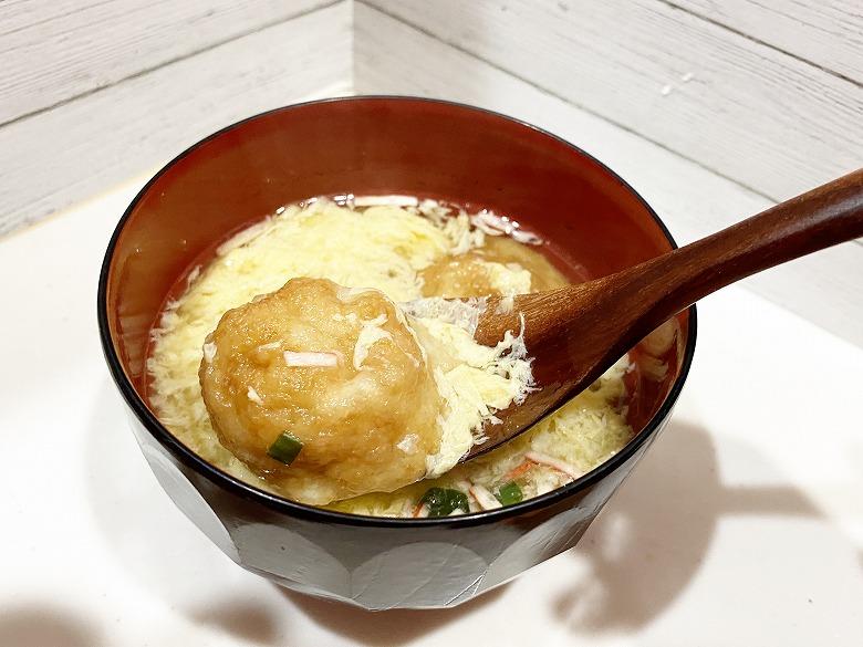 コープデリ「たこ焼50個入(1kg)」レビュー アレンジ 明石焼き風たまごスープ 作り方⑤