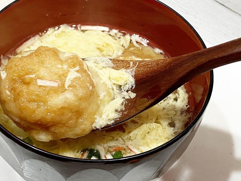 コープデリ「たまごスープ 10食入」 レビュー アレンジ明石焼き風⑥