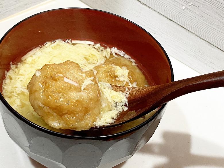 コープデリ「たこ焼50個入(1kg)」レビュー アレンジ 明石焼き風たまごスープ