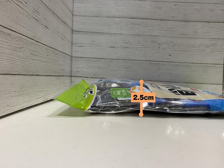 コープデリ「ぽりぽり小魚4.5g × 15袋」レビュー パッケージ厚み