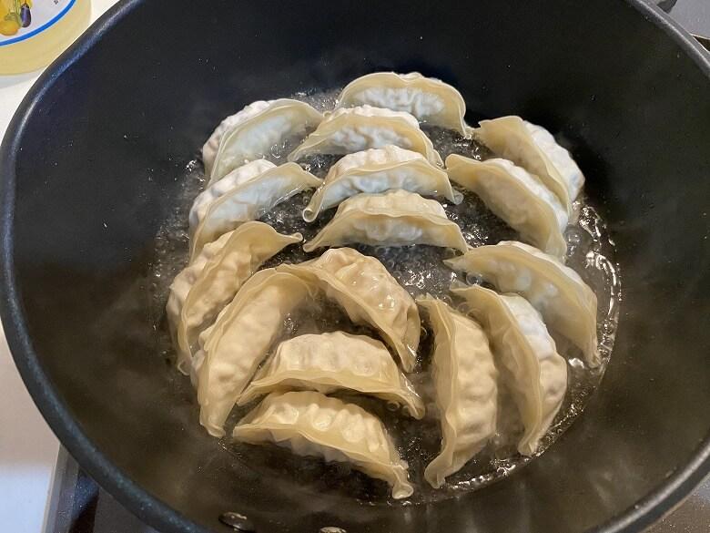 コープデリ「香港ギョーザ」焼き餃子の調理方法④