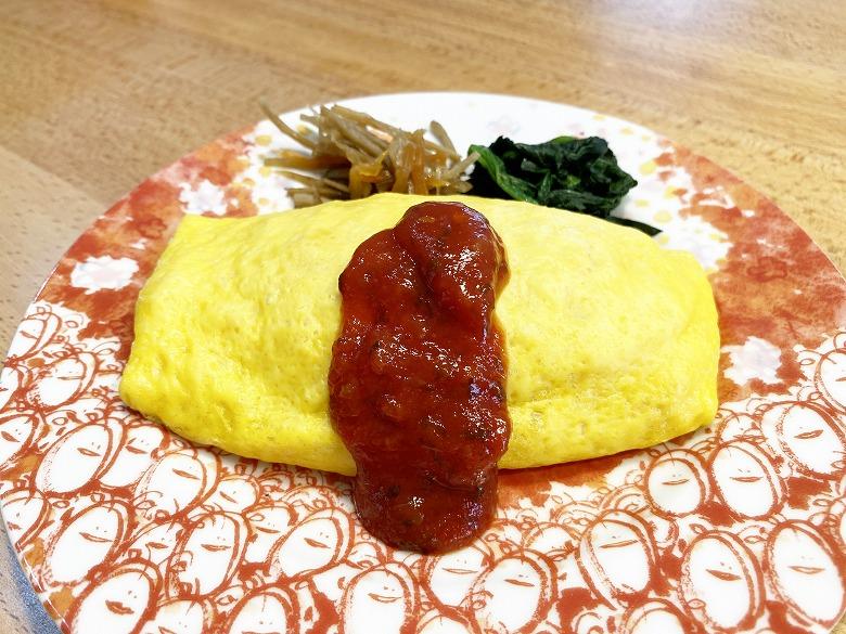 コープデリ ふっくら卵のオムライス2食入(200g × 2)盛り付け写真