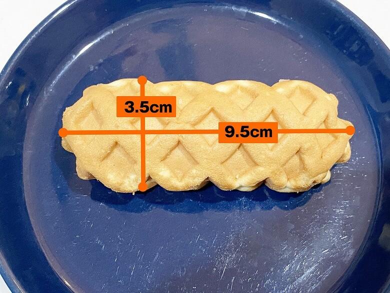 ミニワッフルドッグ(チーズ)6本入(240g) レビュー 1本の大きさ