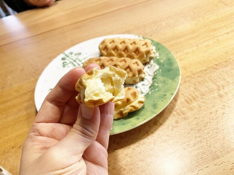 ミニワッフルドッグ(チーズ)6本入(240g) レビュー チーズ入り