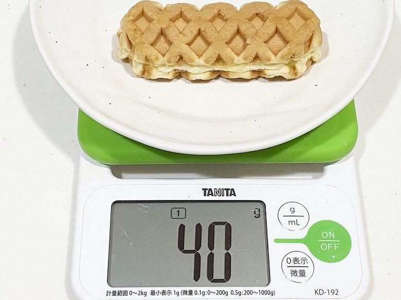 ミニワッフルドッグ(チーズ)6本入(240g) レビュー 1本の重さ