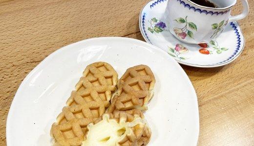 【ミニワッフルドッグ(チーズ)6本入 240g レビュー】朝ごはんやおやつにおすすめ!チーズ入りの人気の冷凍ワッフル【コープデリ】