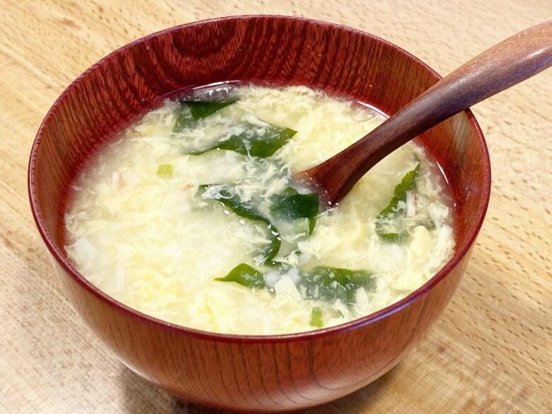 コープデリ「たまごスープ 10食入」 レビュー アレンジ冷やし雑炊⑤