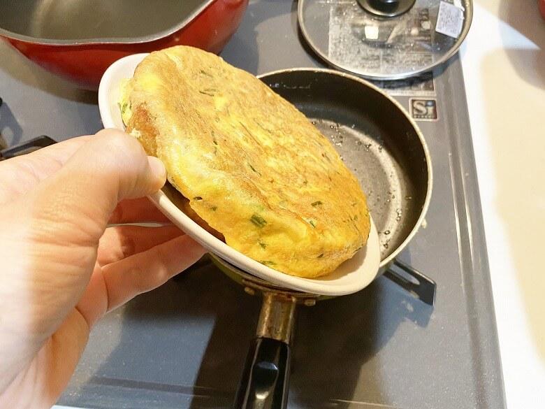 コープデリ「たこ焼50個入(1kg)」レビュー アレンジ たこ焼きDEたまご焼き 作り方⑫