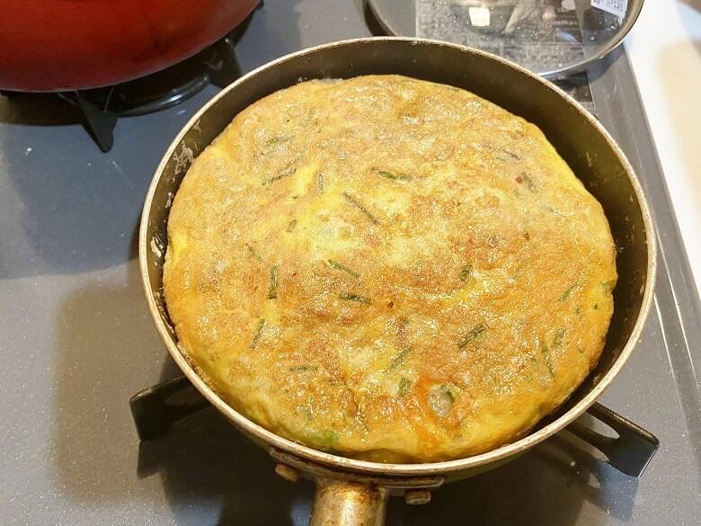コープデリ「たこ焼50個入(1kg)」レビュー アレンジ たこ焼きDEたまご焼き 作り方⑬